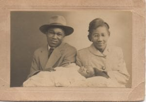 Anne baby with parents